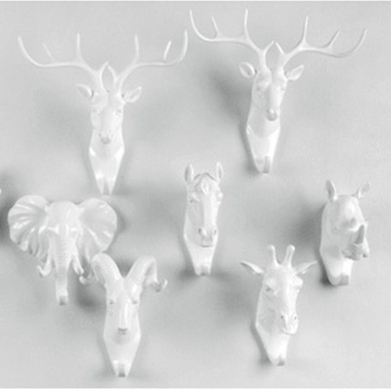 Coat Hook Creative Decorative Animal Head Deer Hooks Wall Decorations Resin Crafts