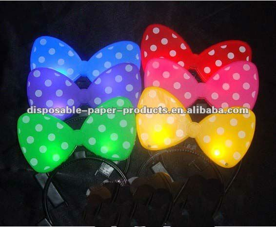 Comercio al por mayor de light up arco diadema/nueva minnie mouse diadema led parpadeante