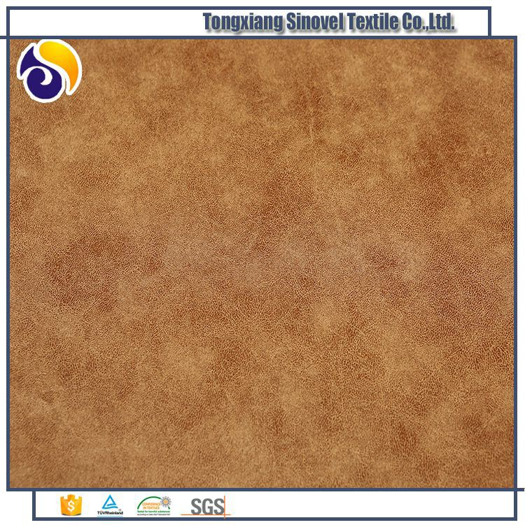 Customized Synthetic Upholstery Faux Leather Microfiber Suede Fabric For Car Seats Cover
