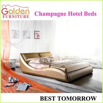 Champagne Color Bedroom Furniture Hotel Beds