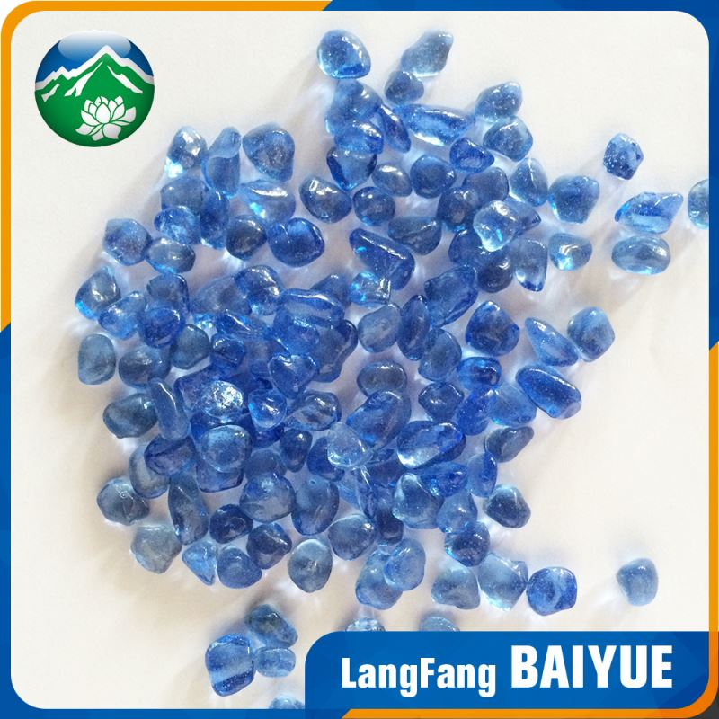 Crystal decorative furnace irregular glass bead with reasonable price