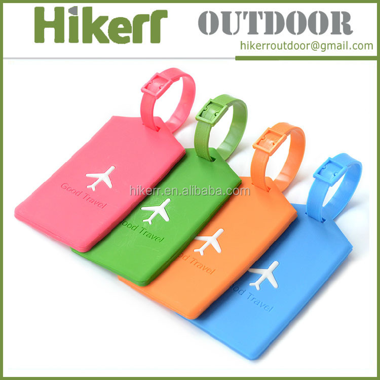 Bulk cheap travel tag custom embossed logo soft pvc plastic luggage tag