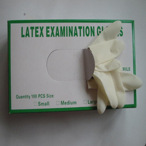 sterile disposable latex glove for examination