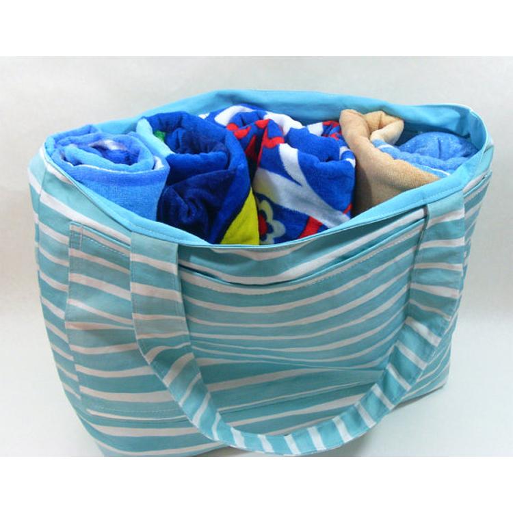 Canvas Beach Bag Material/custom Large Beach Tote Bag/beach Bag ...