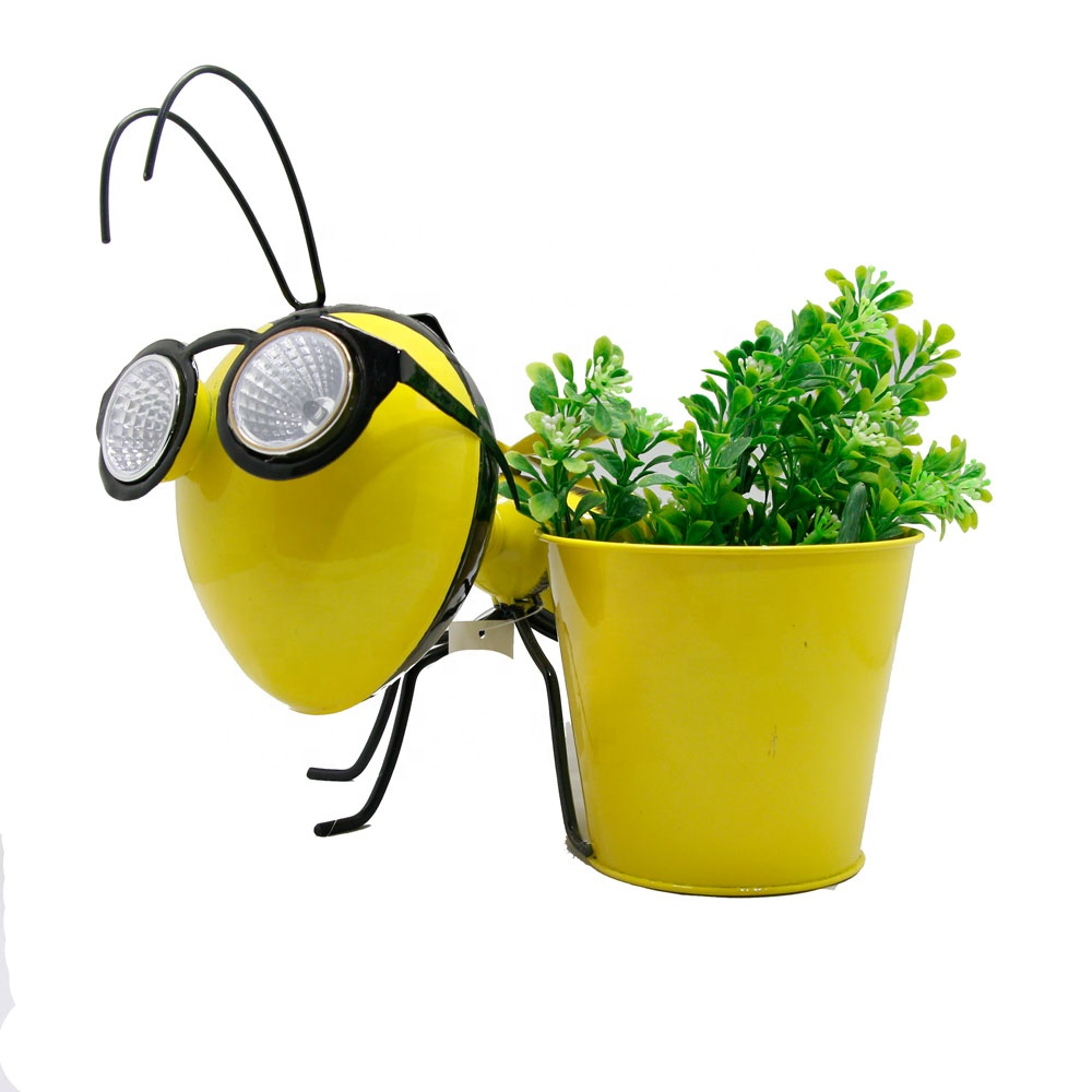 <strong>Outdoor</strong> Small Bee Pot <strong>Led</strong> Solar <strong>Lights</strong> for Garden Home Ornamental