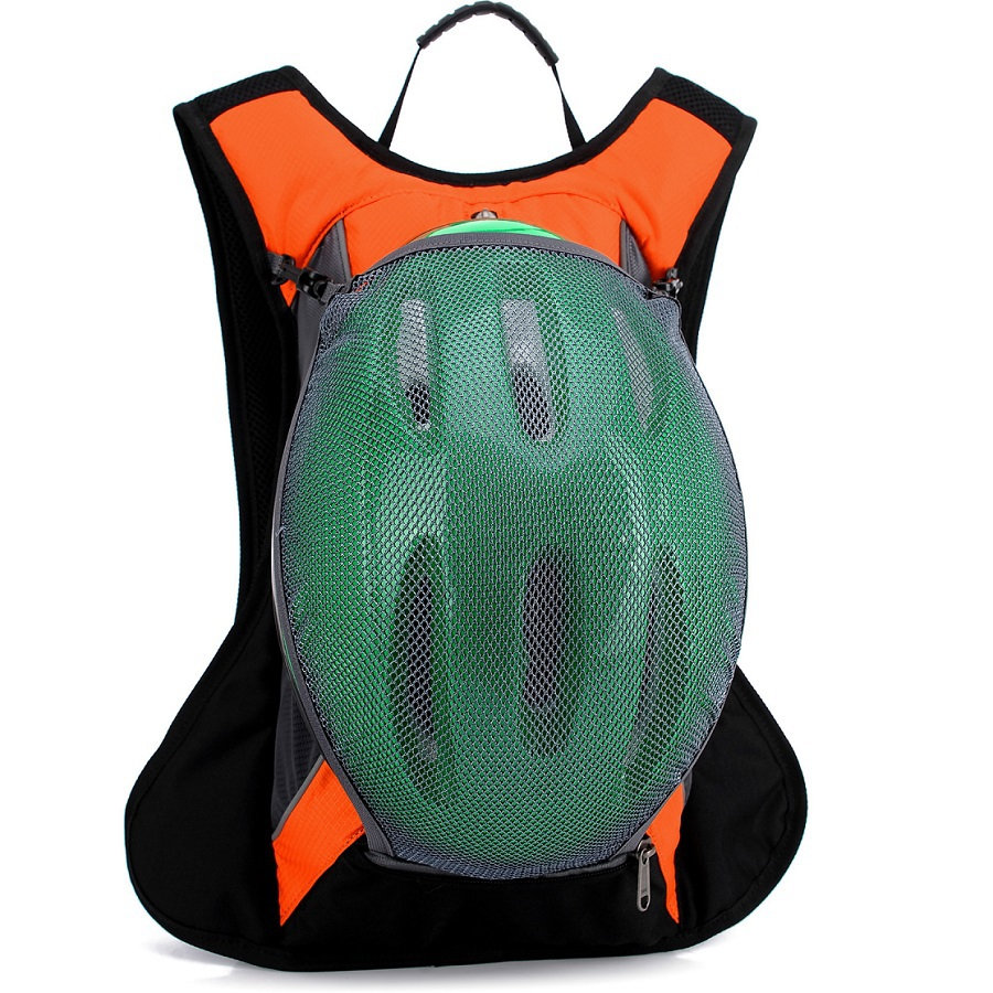 riding backpack of can place helmet water bottle breathable Lightweight bike riding backpack Waterproof outdoor riding backpack