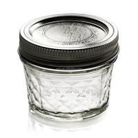 Ball Jar Crystal Jelly Jars with Lids, Quilted, 4-Ounce, Set of 12
