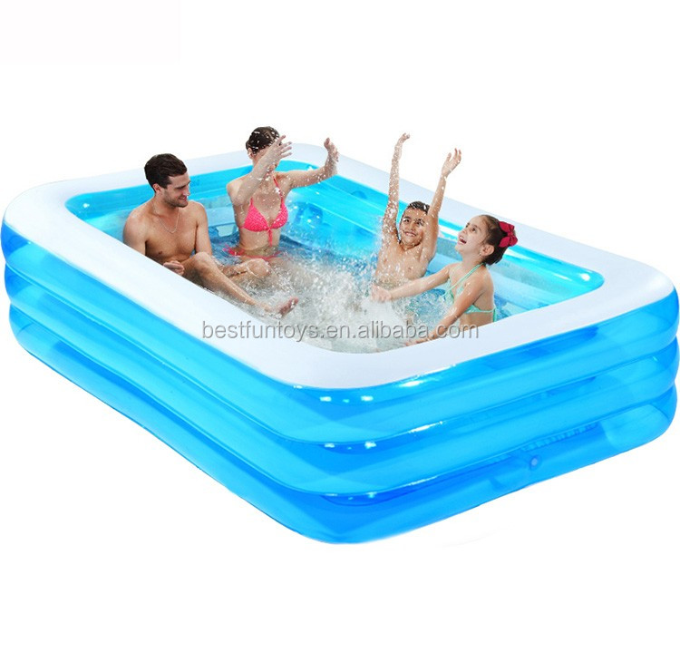 High Strength Plastic Inflatable Swimming Pool Family Folding Inflatable  Swimming Pool Durable Portable Adult Swimming Pools - Buy Portable Swimming  ...