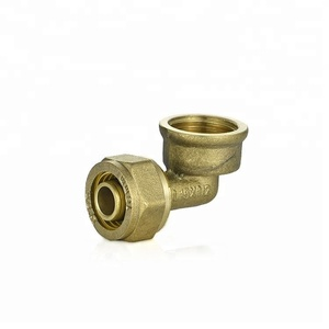 factory good price NSF approval reducing push-in fittings brass union straight and Tee Elbow for underfloor heating system