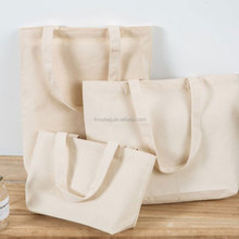 Wholesale Reusable Plain Cotton Canvas Shoulder Tote Shopping Bags With Logo Printing