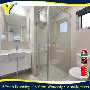 YY windows and doors AS2047 fiberglass shower frosted glass interior doors ready made doors