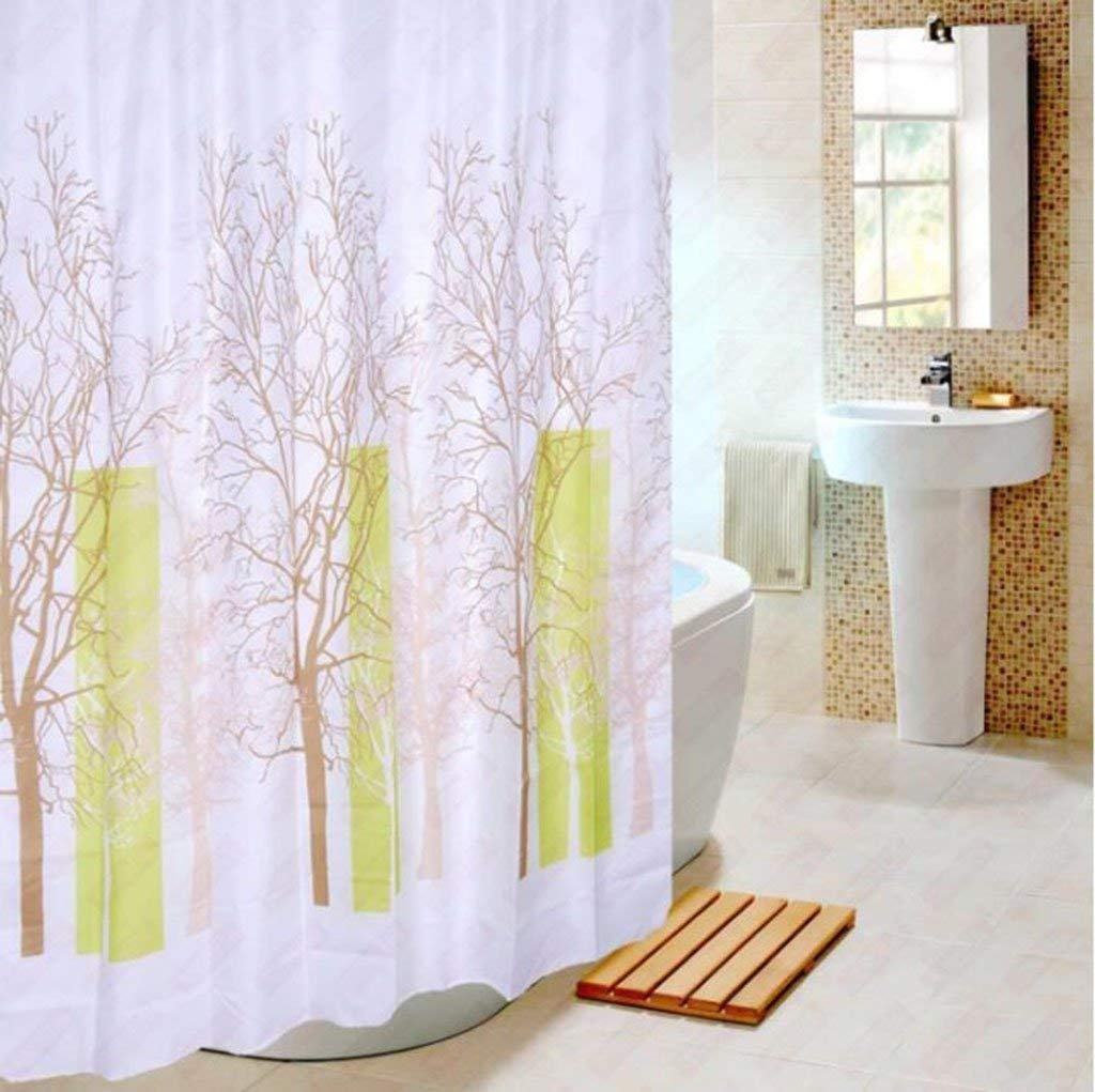 Get Quotations PQPQPQ The Shower Curtain Fabric Waterproof Polyester Bathroom More Metal Slot Lead To