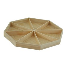 Promotional wooden craft trays round wooden tray