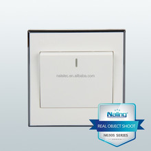 New promotion 1 gang 1 way white wall switch
