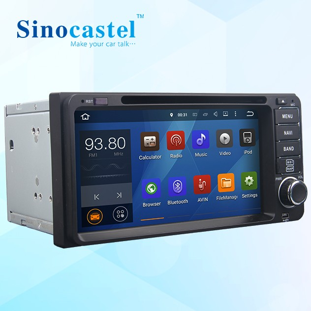 Sinocastel Best Selling 6.95 inch Touch screen <strong>android</strong> 5.1.1 quad core <strong>Toyota</strong> 2 din car radio dvd with gps
