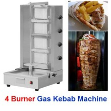 Cooking Equipment Doner Kebab Grill 4 Burner Model BN-RG04 Natural Gas