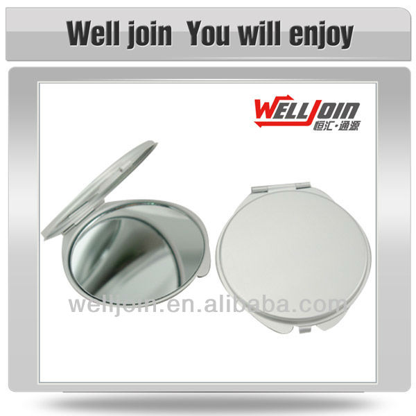 Folding Travel Metal Round Pocket Mirror