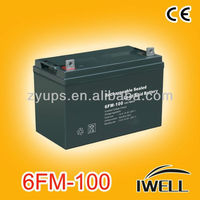 AGM Battery 12v 100ah Rechargeable Battery for UPS Inverters