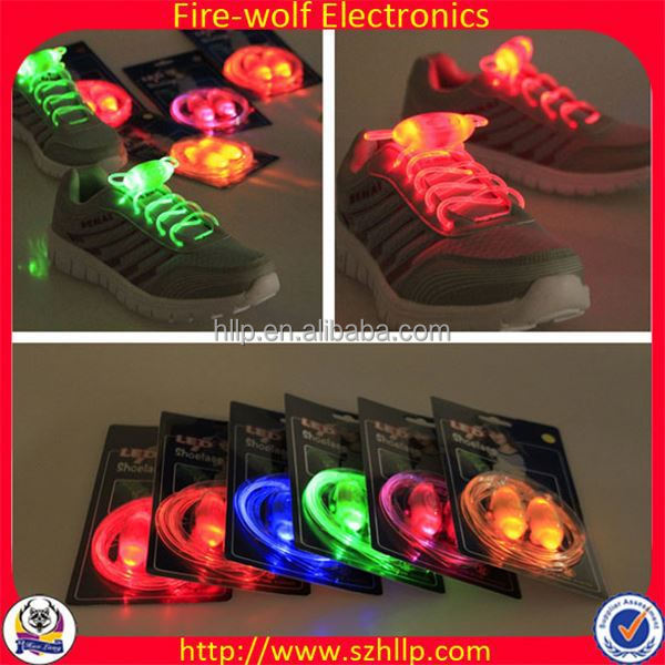 6 Generation Led 6Pk Black Shoelaces Dollar Item Wholesale