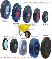 Solid Rubber Wheel PU Foam Wheel Wheelbarrow Wheel With Steel Rim