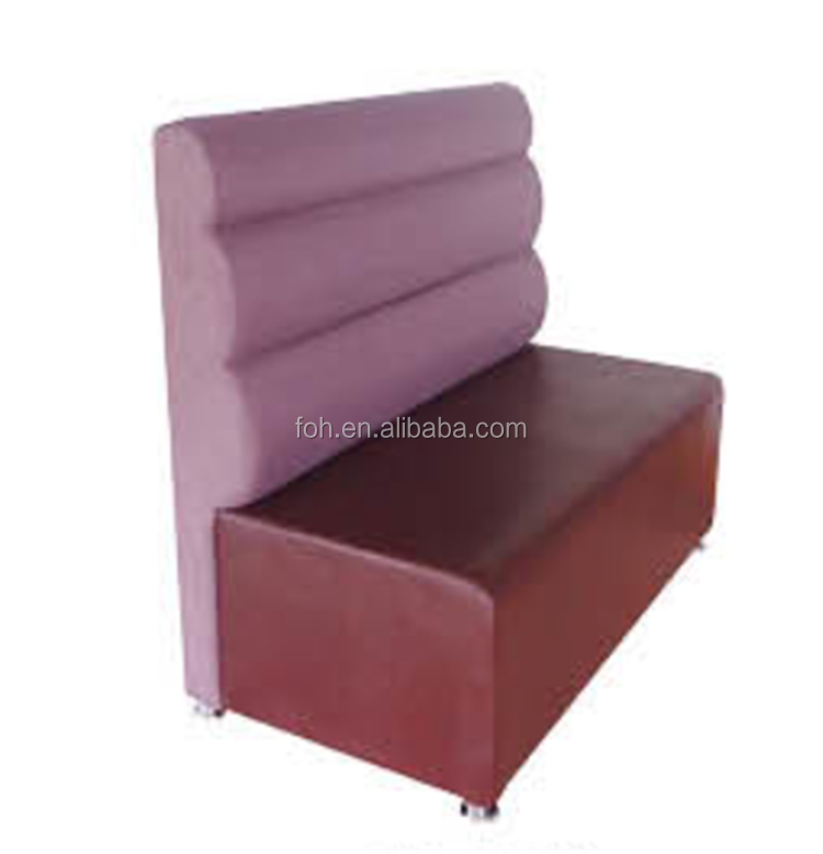 purple booth seating Restaurant sofa bench for sale (FOH-CBCK24)