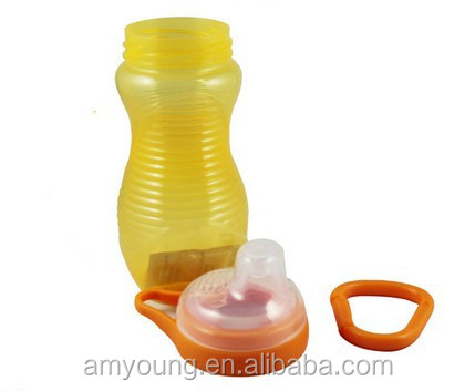 Drinking Bottle Manufacturer Guangzhou China Kids Plastic Silicone Sippy Cups Non Spill Trainning Cup