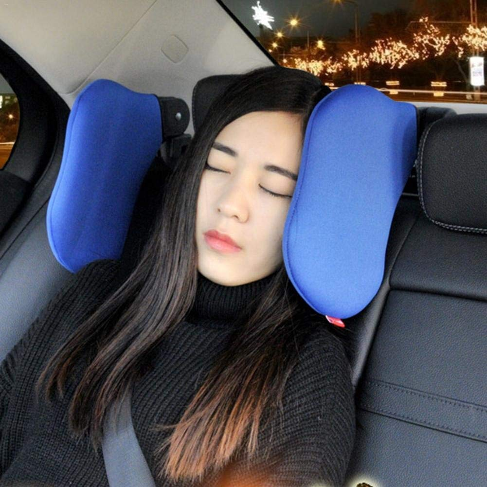 Get Quotations Car Neck Pillow Seat Headrest High Elastic Nylon Support On Both Sides