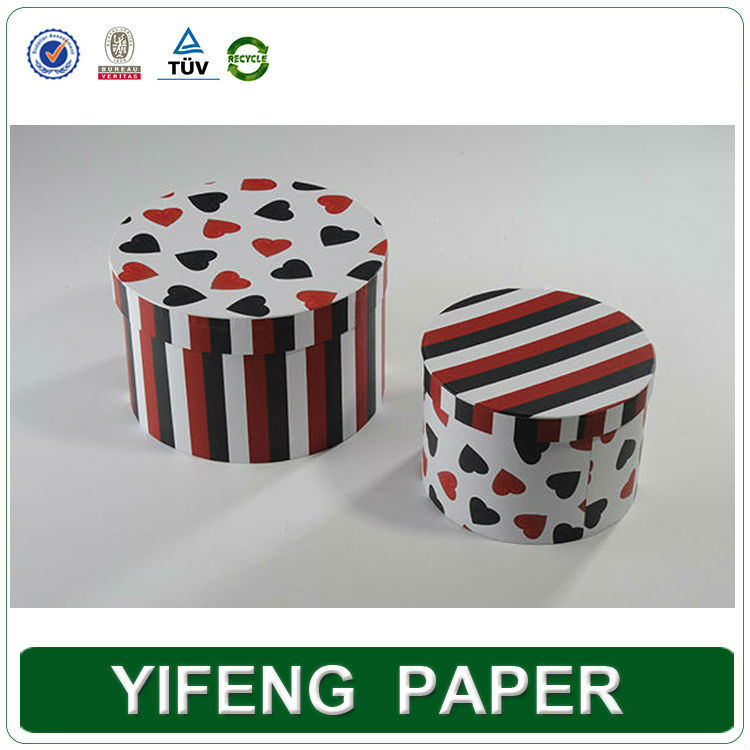 custom print Small white cardboard paper cylinder large round gift box wholesale
