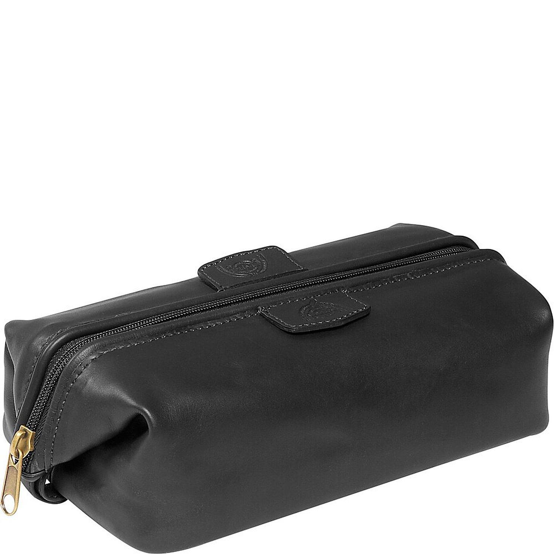Dopp Men's First Class Leather Seasoned Traveler Admiral Kit