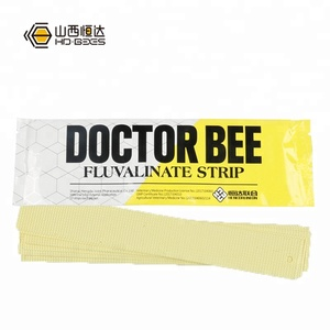 High Efficacy Bee Medicine Doctor Bee (10 Strips) Against Varroa Mite Fluvalinate Strip