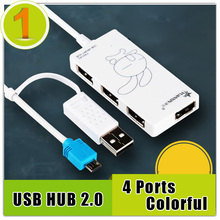 High Quality micro usb hub otg charger charging for samsung xiaomi huawei,4 ports 2.0 for latpot pc computer free shipping