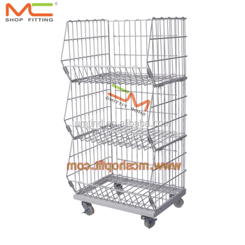 Super Movable Tilted Basket Shelf Warehouse Cage Shelf Stackable Wire Baskets With Wheels Buy Wire Storage Basket With Wheels Stackable Wire Download Free Architecture Designs Embacsunscenecom