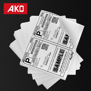 "[8""X5.5"",200 Labels,100Sheet/Lot] Inkjet/Laster Printers Compatible Matt Coated White Self Adhesive Sticker Paper"