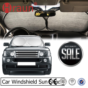 Premium Car Anti Uv Silver Sun Block