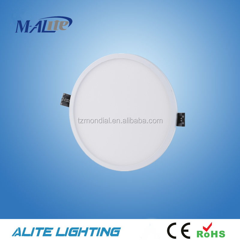 Best quality CE RoHS LED Alunminum and plstic designed led panel IP44 round led panel light