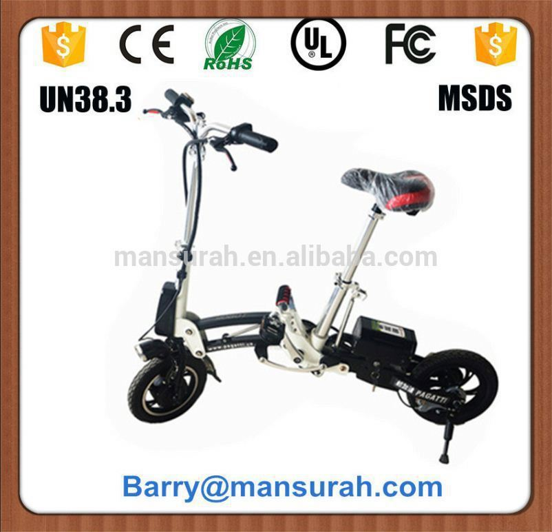 36V 10Ah li-ion battery ebike with 250w brushless motor / pedelec