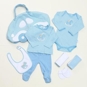 bc7686b36b4b Mommy Bag Cute Design Baby Boys Accessories Newborn Baby Boy Gift Set  Romper Bib Infant Burp
