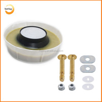 Toilet replacement kit toilet bowl gasket wax ring with toilet brass bolt kit