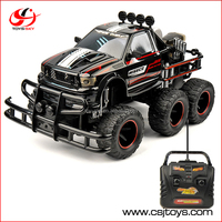 6-WHEEL 1/10 Scale 27MHZ RTR Brushed Monster RC 6x6 truck Hobby toy