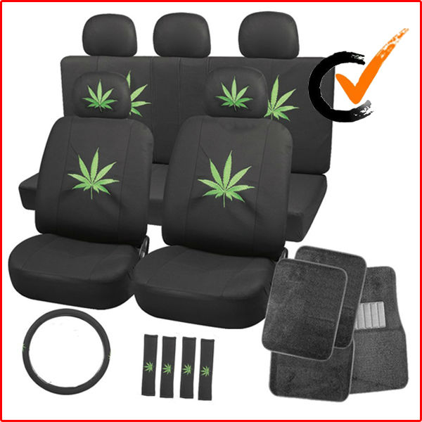 Flat Cloth Cartoon Car Seat Cover With Leaf Logo