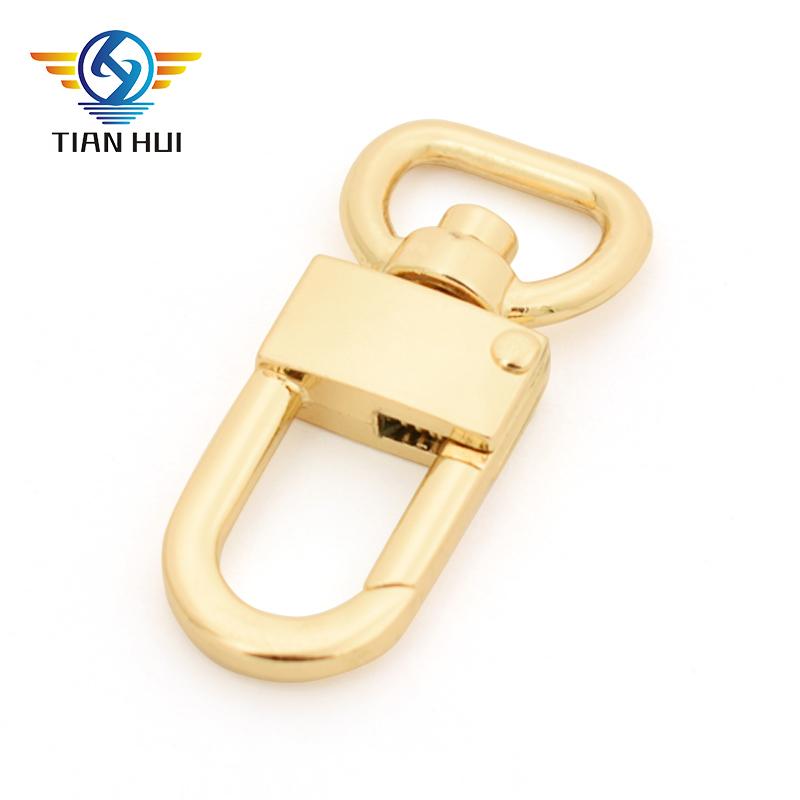 ขายร้อนโลหะขนาดเล็กกระเป๋าถือหัวเข็มขัดกุญแจตะขอหมุน