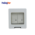 IP55 Bathroom/Outdoor Waterproof Wall Switch 2Gang 2Way Socket