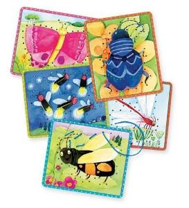 Eeboo Sewing Cards, Set of 5, Friendly Bugs