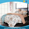 100% cotton european style bedding set with printed