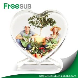 Wedding gifts beautiful love screen blank sublimation 3d crystal 3d photo crystal heart