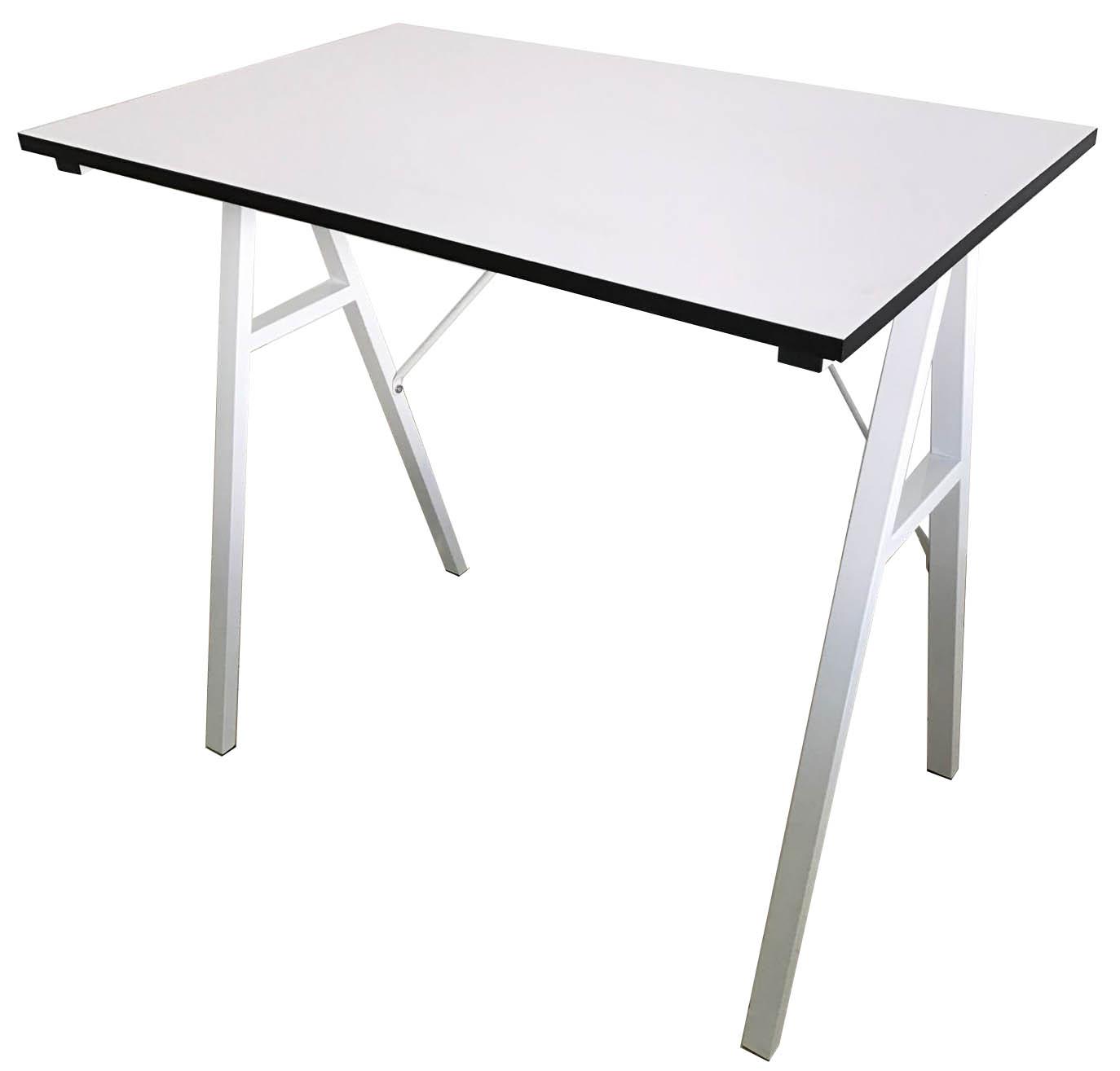 Bureau en fer forgé industriel rustique, cadre en bois, Stable, gain de place, bureau à domicile, bureau d'ordinateur