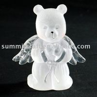 Clear resin angel wholesale figurine bear