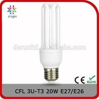 3U-T4 12mm 20w 1150lm 110V 120V 130V Cfls Energy Saving Lamp Bulb Light With CE ROHS for US Market