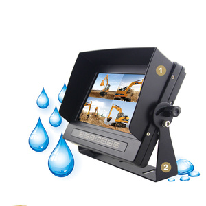 Waterproof car 7 inch tft lcd quad monitor car rearview Quad monitor reversing camera kit