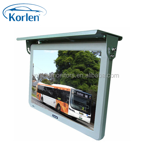 19inch bus roof mounted monitor with fixed, turning, hydralic optional